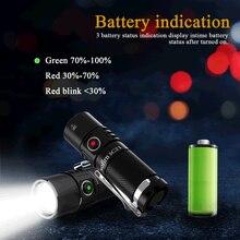 Sofirn-Mini linterna LED SC21 16340, recargable por USB C, 1000lm, con indicador de potencia de cola magnética