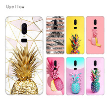 Uyellow Pineapple Silicone Soft Case For One Plus 7 Pro 6 6T 5 5T Fashion Fundas Printed Cover Luxury Phone Coque TPU Shell uyellow star wars watercolor soft tpu case for one plus 7 pro 6 6t 5 5t fashion fundas printed cover silicone luxury phone coque