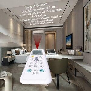 Image 1 - Elistooop evrensel düşük güç tüketimi 1028E klima 1028E LCD A/C çok uzaktan kumanda kontrolörü