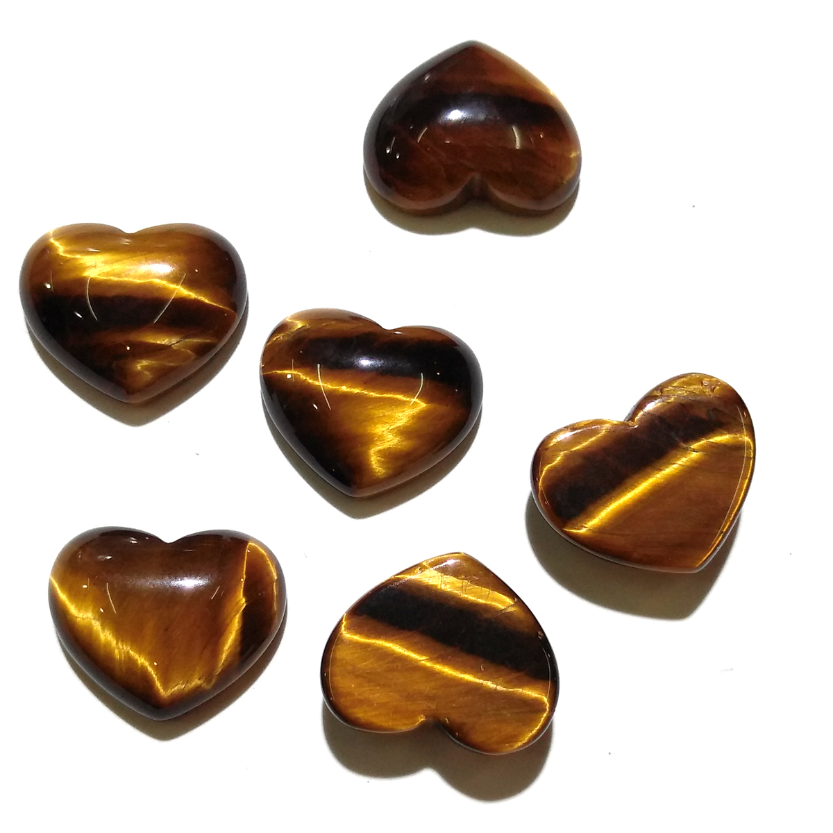 Wholesale Lots Bulk 10 Pieces Natural Stone Pendants Heart Shape Beads Tiger Eye Stone Cabochon No Hole Beads for Jewelry Making in Jewelry Findings Components from Jewelry Accessories