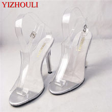 12 cm sexy super hoge hakken, nieuwe prestaties crystal dames stage fashion runway sandalen(China)