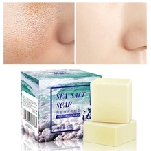 Sea Salt Soap Anti-mite Oil-control Firming Skin Cleaning Facial Cleansing Handmade 100g
