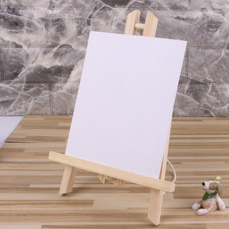Wood Easel Advertisement Exhibition Display Shelf Holder Studio Painting Stand