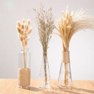 15pcs Dried Flowers Dried Grass Pennisetum Rabbit Tail Hay Bunny Tail Natural Plants Decorative Dried Flowers Pastoral For Home(China)