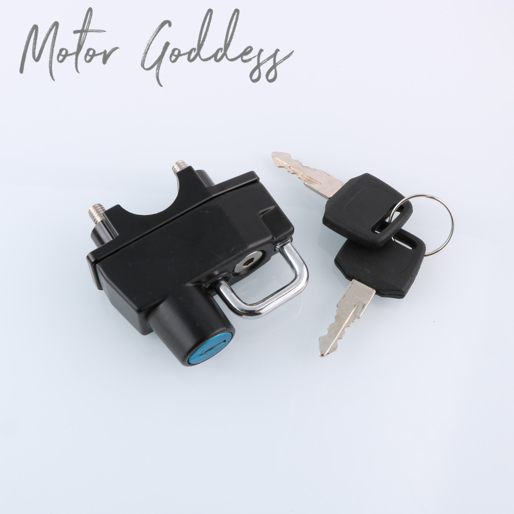 Motorcycle Accessories Helmet Lock Hanging Hook 2 Keys Durable Handlebar Clamp For BMW F650CS F650GS F700GS F800ST C650GS R1150R