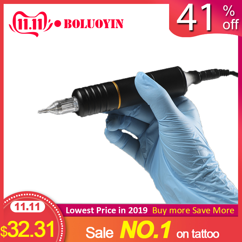 Newest Professional Tattoo Hybrid Pen Rotary Machine Needle Cartridges with DC5.5 Jack
