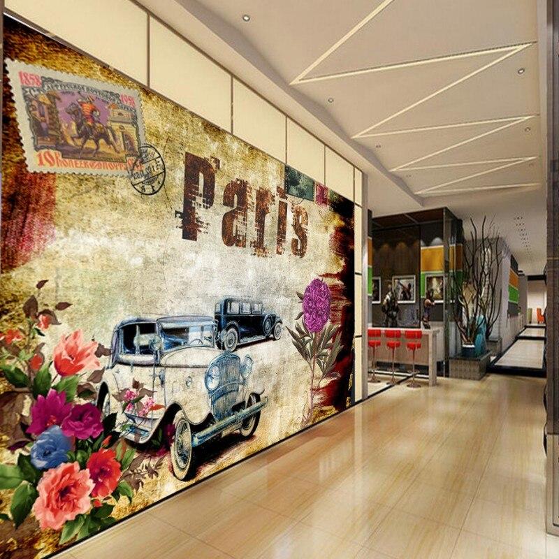 Dropship Custom 3d Wallpaper European Oil Painting Flower Tooling Background Wall Lobby Studio Wallpaper  Living Room Mural