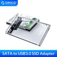 ORICO HDD 인클로저 2.5 인치 투명 SATA to USB 3.0 SSD 어댑터 (노트북 용) Samsung Seagate SSD 하드 디스크 드라이브 박스 HDD 케이스