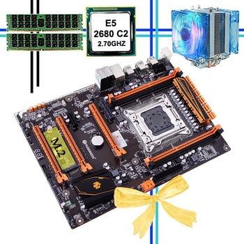 New arrival brand new HUANANZHI deluxe X79 LGA2011 motherboard Intel Xeon E5 2680 C2 2.7GHz RAM 32G(2*16G) DDR3 1600MHz REG ECC