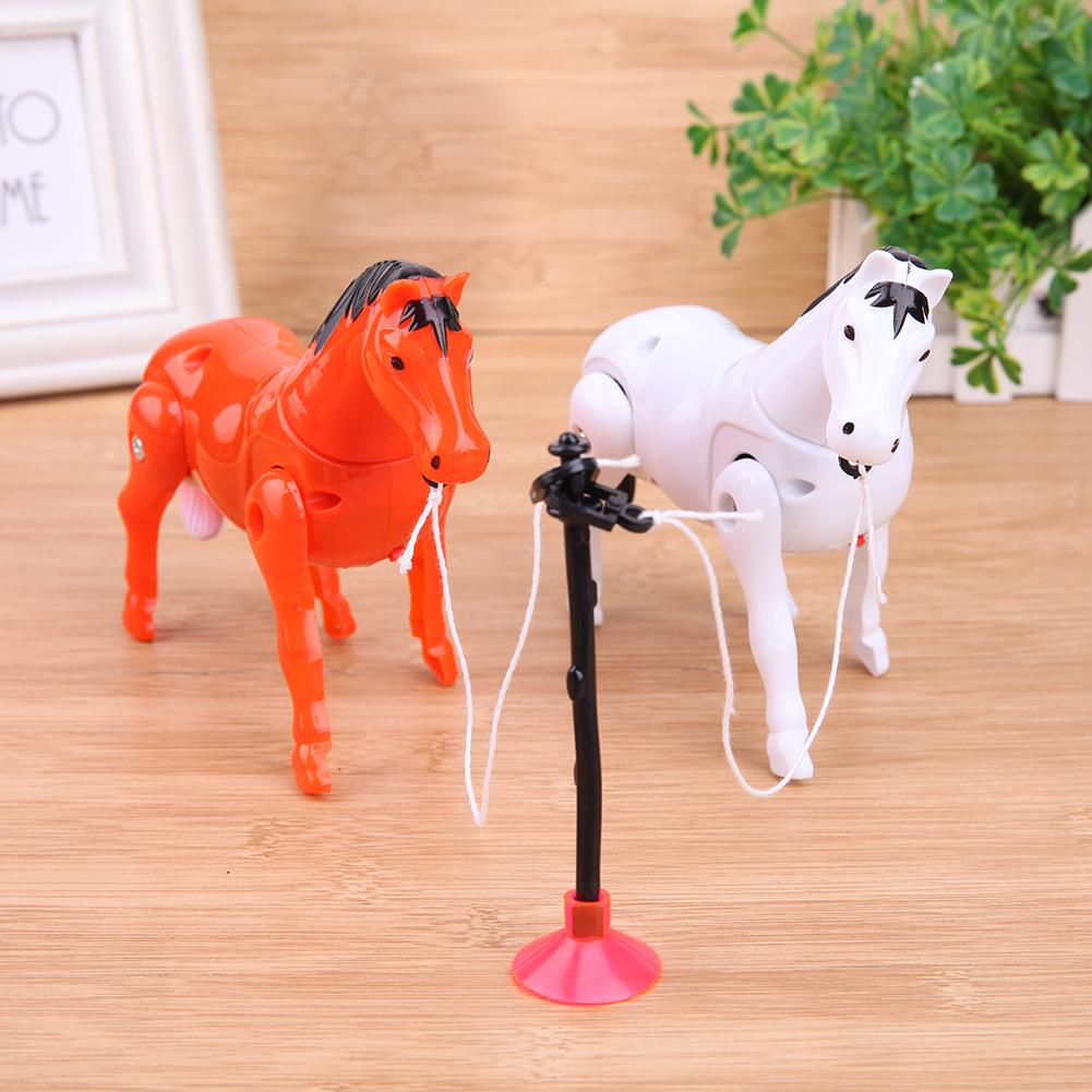 Electric Plastic Horse Toys Around Pile Circle Children Gifts Toys