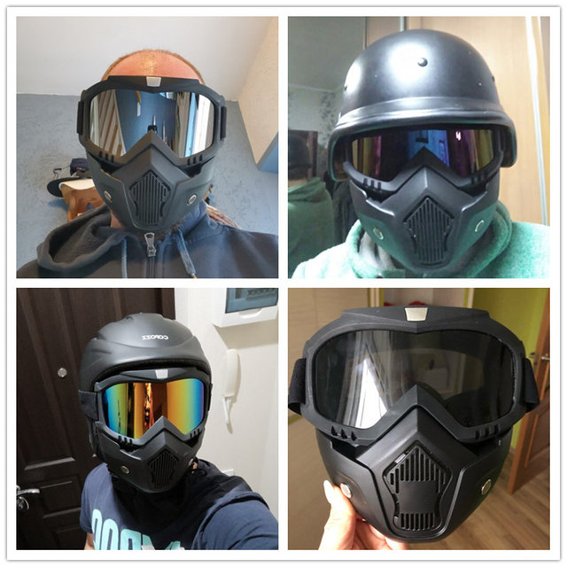 Cycling Motorcycle Helmet Dust Face Mask Shield Respirator Motocross Goggle Glasses Safety Protective Eyewear Bike Bicycle Tools 1