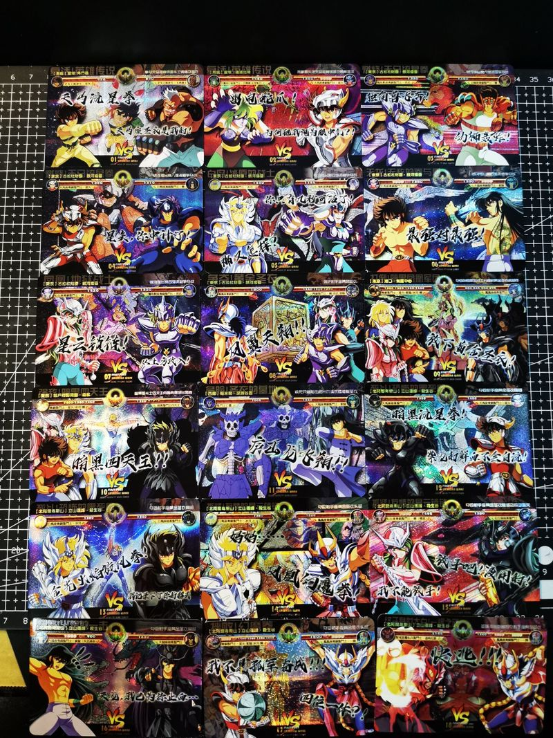 18pcs/set Saint Seiya Doujin Series Story Battle Card Sanctuary Assassin Hobby Collectibles Game Collection Anime Cards