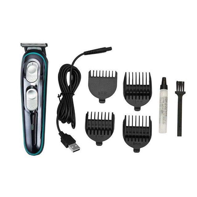 Maszynka do włosów fryzjer maszynka do włosów s elektryczny wielofunkcyjny zestaw domowy Salon fryzjerski dedykowany Push USB ładowanie maszynka do włosów
