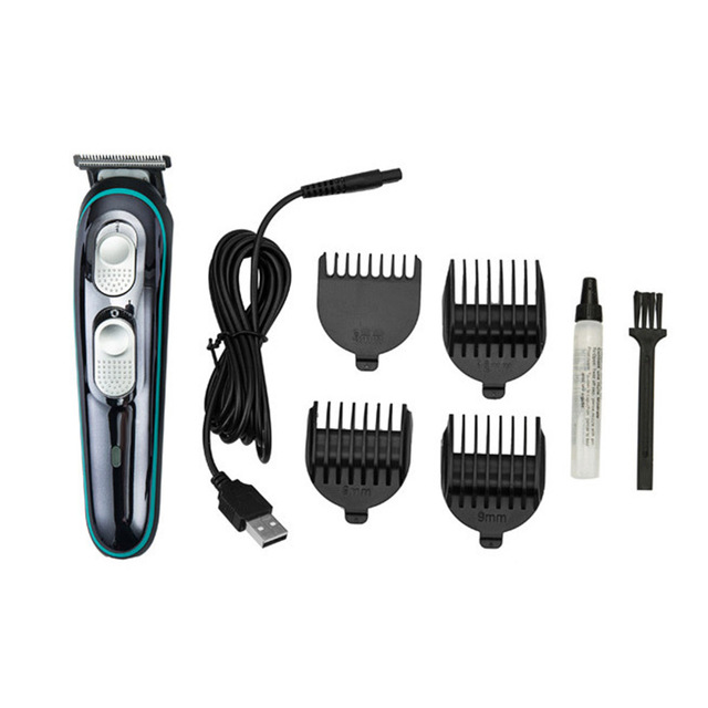 Saç kesme berber saç makasları elektrikli çok fonksiyonlu ev seti kuaför adanmış itme USB şarj saç kesme