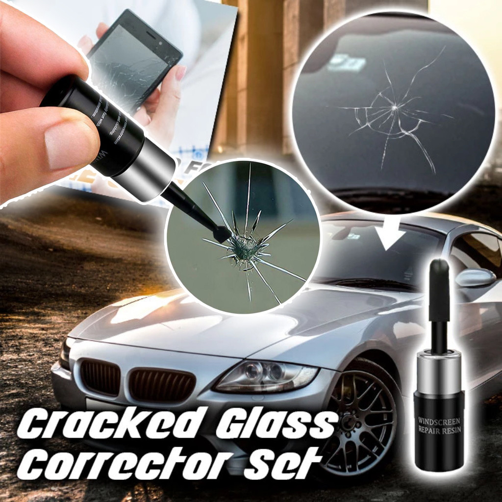 Repair-Tool-Set Windshield-Crack-Chip Nano Automotive-Glass Window Black Magic title=