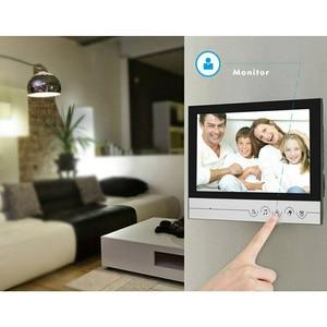 "Image 3 - 9 ""Pantalla de Color de Video Intercom sistema de teléfono de puerta 2 monitores 1 + RFID timbre Cámara 2 casa apartamento envío gratis"