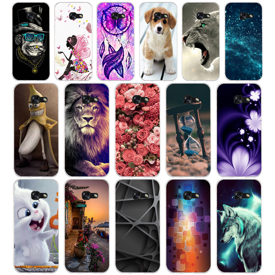 12 Silicone For Samsung A5 2017 2016 A50 Case Soft TPU Phone Case For Samsung Galaxy A 5 2017 Cover Coque Funda Skin Shockproof