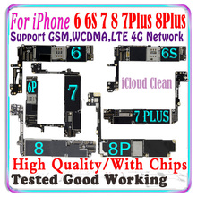 Free iCloud Original For iPhone 6 6s 7 Plus 8 plus 6S Plus 4S motherboard For iPhone 7 Plus 8 Plus logic board With chips IOS MB