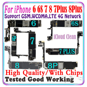 Image 1 - Free iCloud Original For iPhone 6 6s 7 Plus 8 plus 6S Plus 4S motherboard For iPhone 7 Plus 8 Plus logic board With chips IOS MB