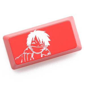 Novelty Shine Through Keycaps ABS Etched Shine-Through One Piece Luffy Sanj Nami Shanks Zoro black red keyboard enter backspace(China)