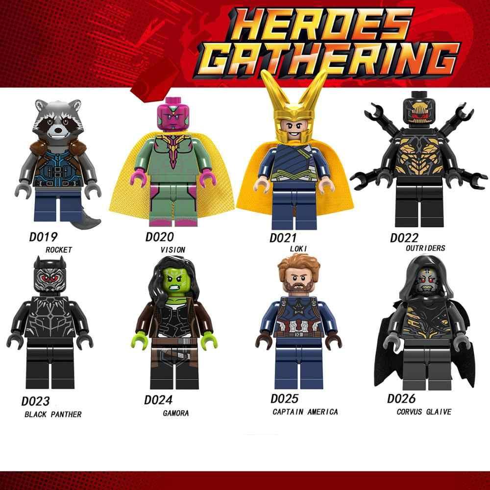 Blocos de construção Fit Legoingly Mini 1Pcs Arma de Ação Figuras Super Heróis Da Marvel SUPERMAN BATMAN LOKI THANOS Crianças Brinquedos Presentes