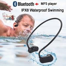 Najnowszy APT-X V31 z przewodnictwem kostnym Bluetooth 5.0 z odtwarzaczem MP3 IPX8 wodoodporny basen odkryty słuchawki sportowe odtwarzacz muzyczny MP3