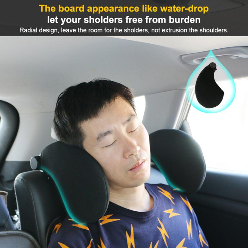 2 Colors Car Seat Headrest Car Neck Pillow Sleep Side Head Support With High Elastic Nylon Retractable Support For Kids & Adults