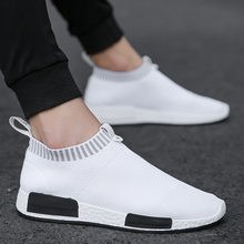 Men Shoes Sneakers Men Breathable Air Mesh Sneakers Slip on Summer Non-leather Casual Lightweight Sock Shoes Men Sneakers(China)