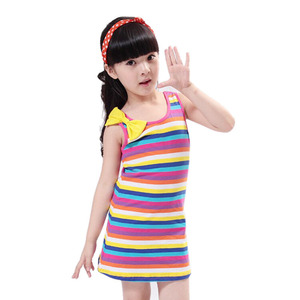 Платья для маленьких девочек; Летняя детская одежда в полоску для девочек; Повседневные Вечерние платья принцессы на день рождения с бантом; Повседневное пляжное платье на бретелях