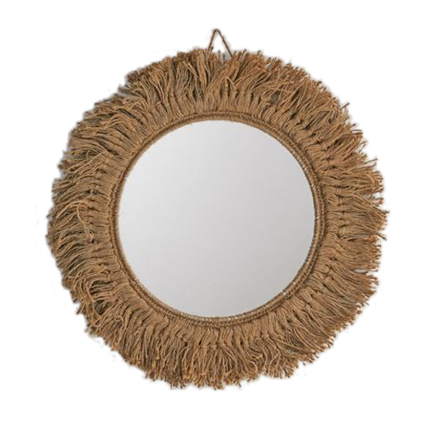 Hemp Braided Wall Mirror