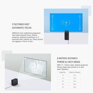Image 3 - جهاز عرض شاومي Mijia ثلاثي الأبعاد يعمل بنظام الأندرويد 6.0 جهاز عرض DLP 1080p 3500 لومن HDR مزود بخاصية الواي فاي وتقنية البلوتوث MIUI TV 4K صغير محمول للمنزل ولعبة PS4