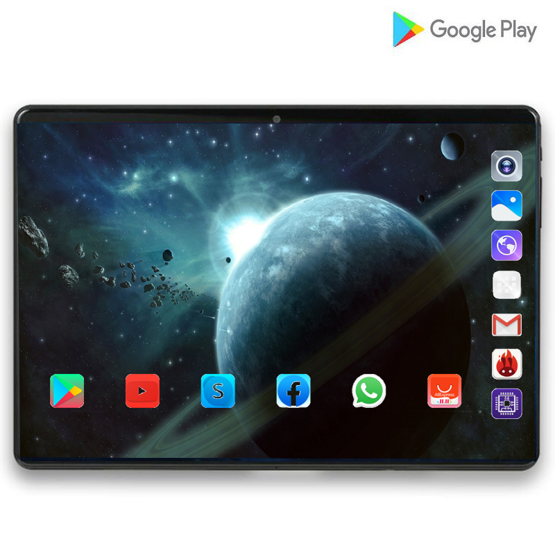 128G MID Global Bluetooth Wifi phablet Android 9.0 10.1 inch tablet Octa Core 6GB RAM 128GB ROM Dual SIM Cards Tablet 10 S119 image