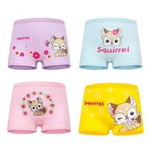 4Pcs/Lot Cotton Girls Underwear New Design Baby Clothing Girl Panties Cartoon Princess Printed Briefs Kids Panti Underpants