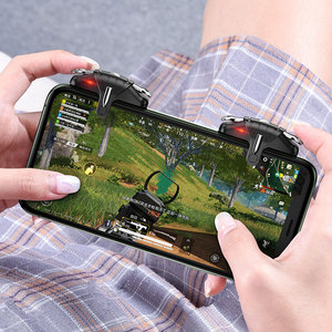 Image 1 - PUBG mobilny kontroler Gamepad Joystick 30 strzałów na sekundę wyzwalacz gier L1R1 przycisk spustu celu dla PUBG gra telefoniczna Pad