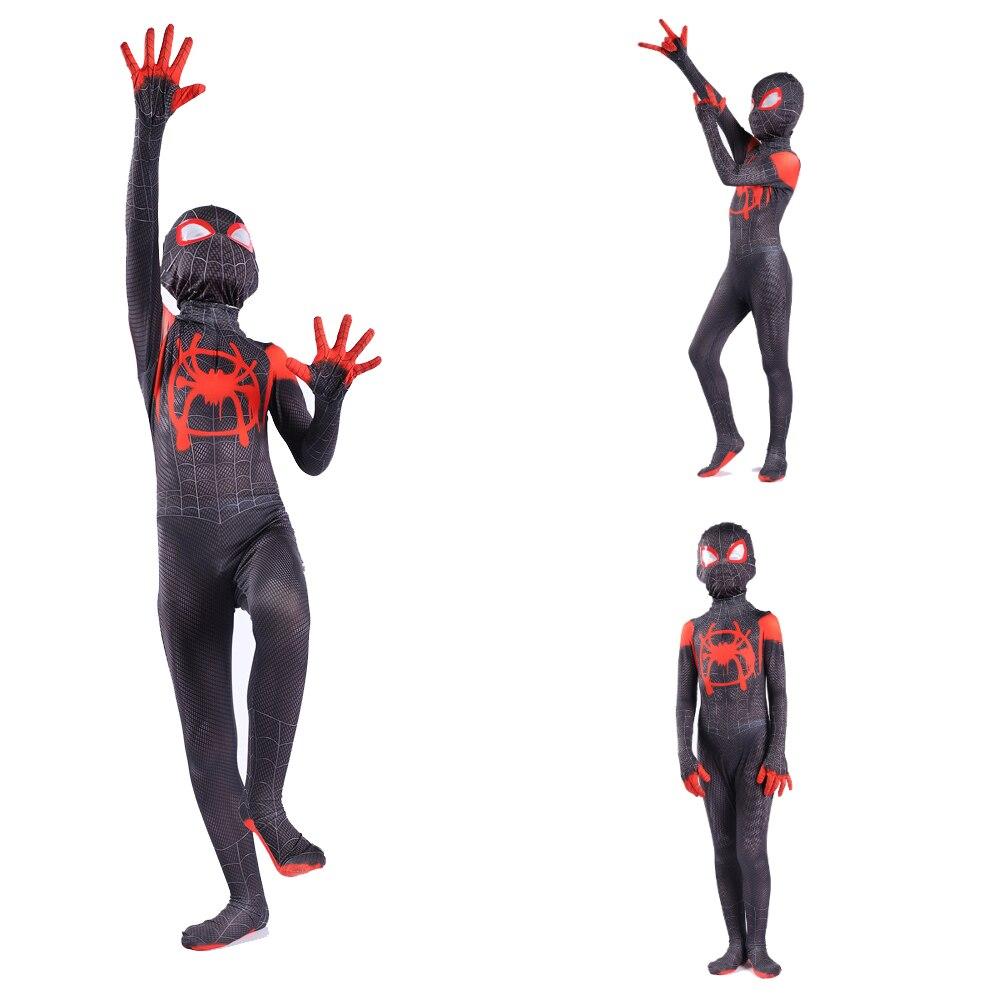 Miles Morales Spider Zentai 3D Print Costume Adult Kids Boys Spider Suit Cosplay Costume Superhero  Halloween Costume For Kids