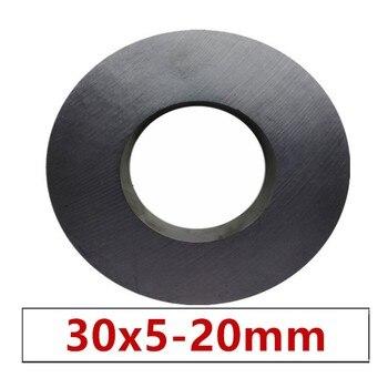 цена на 10/20pcs/lot Y30 Ring Ferrite Magnet 30*5 mm Hole 20mm Permanent magnet 30mm x 5mm Black Round Speaker 30X5 30-20*5mm