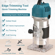 Woodworking Electric Trimmer Wood Milling Engraving Slotting Trimming Machine Hand Carving Machine EU US Plug 220V Router Wood