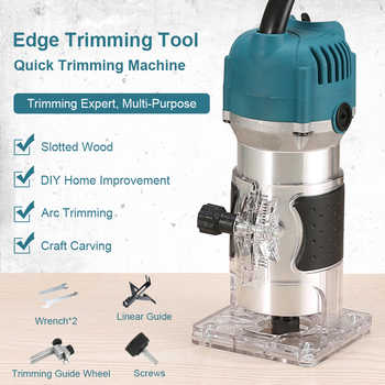 Woodworking Electric Trimmer Wood Milling Engraving Slotting Trimming Machine Hand Carving Machine EU US Plug 220V Router Wood - DISCOUNT ITEM  51 OFF Tools