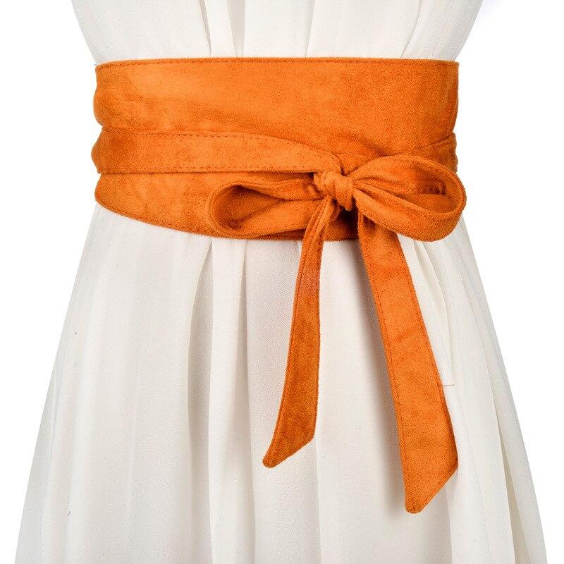 Women Belt Wide Designer Velvet Bow Sweet Girl Long Knotted Belts Fashion Decoration Skirt Waist Seal Girl