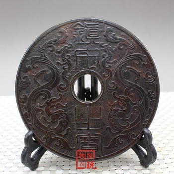 Antique jade relief, the treasure of Shuanglong town house, Ping'an buckle jade ornament