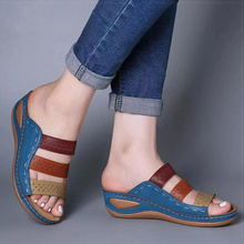Women Sandals Mix Color Wedges Shoes For Women Summer