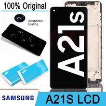 100% oryginalny 6.5 ''wyświetlacz LCD + ekran dotykowy Digitizer zgromadzenie dla Samsung Galaxy A21s A217 SM-A217F/DS Pantalla naprawy części