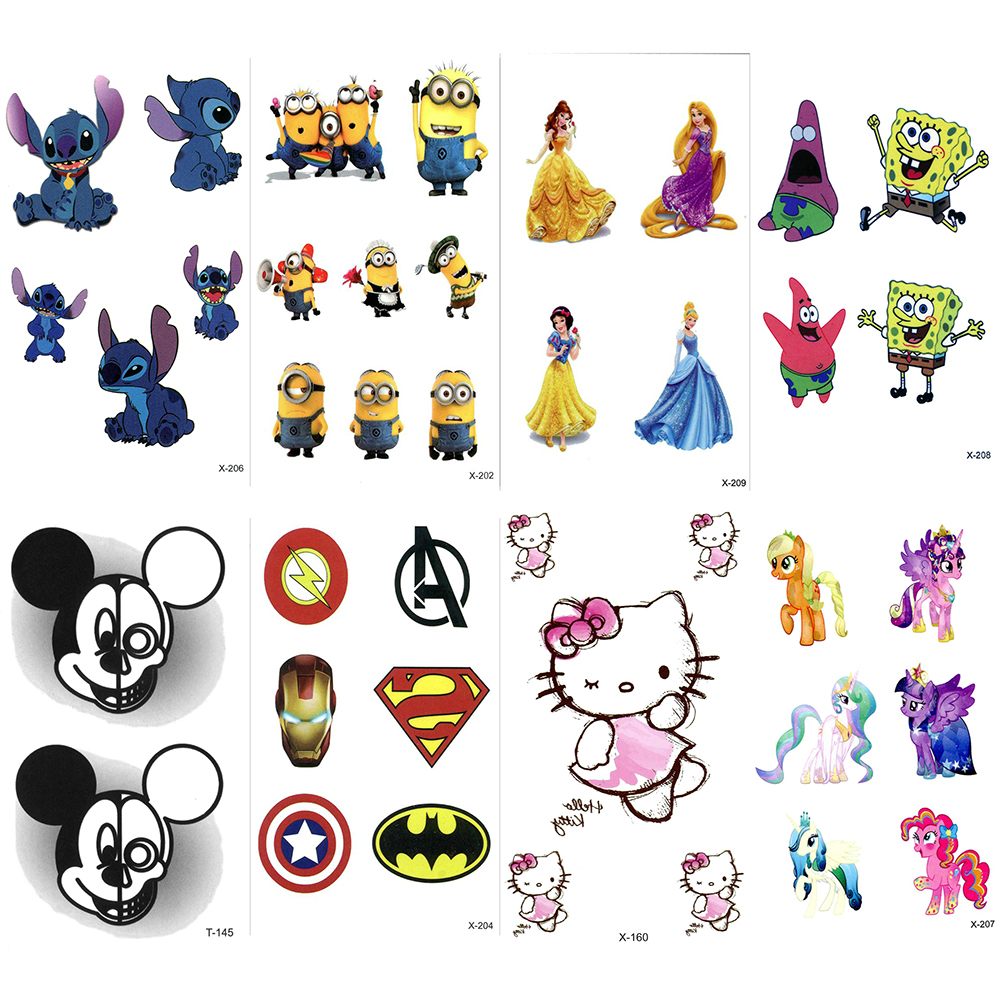 Waterproof Cartoon Temporary Tattoo Sticker For Boy Girls Body Art Tatoo Kids Child 3D Fake Tattoos Paper Sticker Tatouage