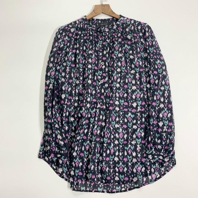 Women Shirt Flower Printed High Quality 100% Cotton Shirt