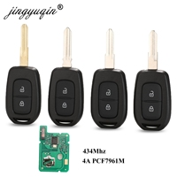 jingyuqin Remote Car Key 433mhz with PCF7961M 4A Chip for Renault Sandero Dacia Logan Lodgy Dokker Duster Trafic Clio4 Master3