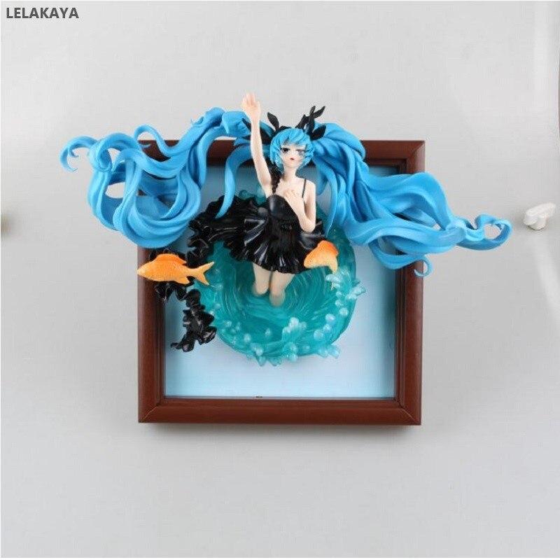 35cm Anime jeu VOCALOID image cadre Photo Hatsune Miku mer profonde fille Ver. 1/8 échelle PVC figurine Collection modèle jouets