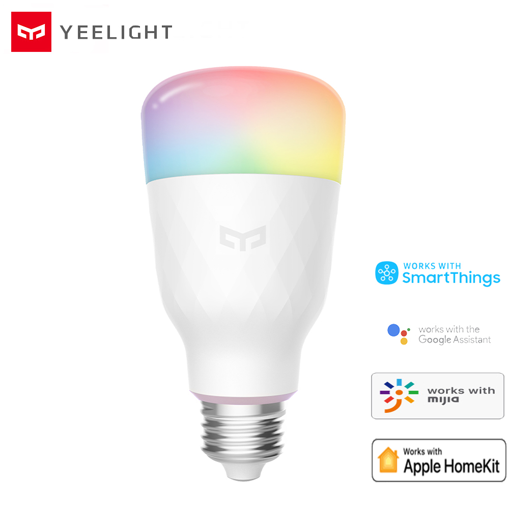 Yeelight Smart LED Bulb 1S YLDP13YL 8.5W RBGW Work With Mijia Homekit AC100-240V 1700K-6500K E27 800lm Desk Floor Table Lamp