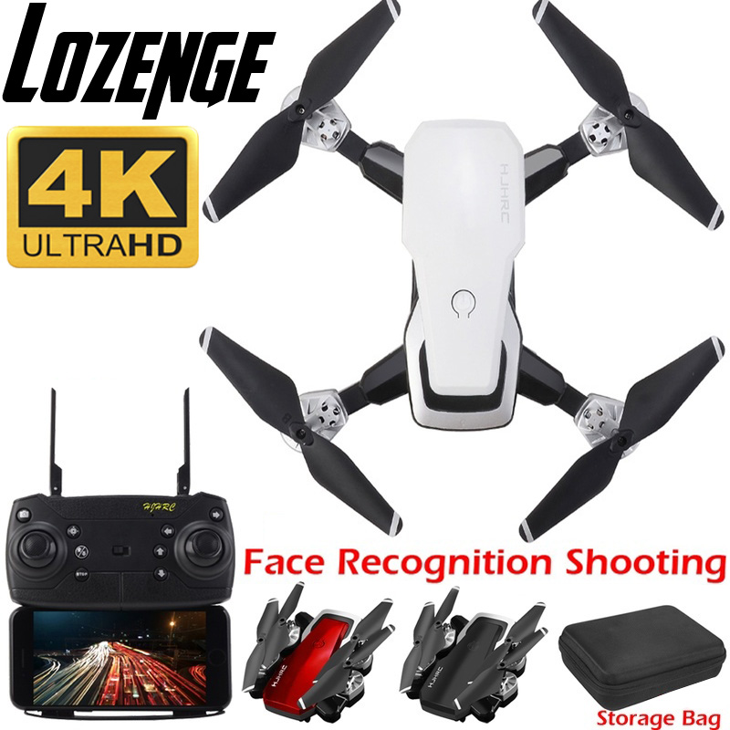 Lozenge HJ28 WIFI FPV Long Battery RC Drone Wide Angle Selfie Quadcopter Altitude Drone With Camera 4K Deone with Storage Bag
