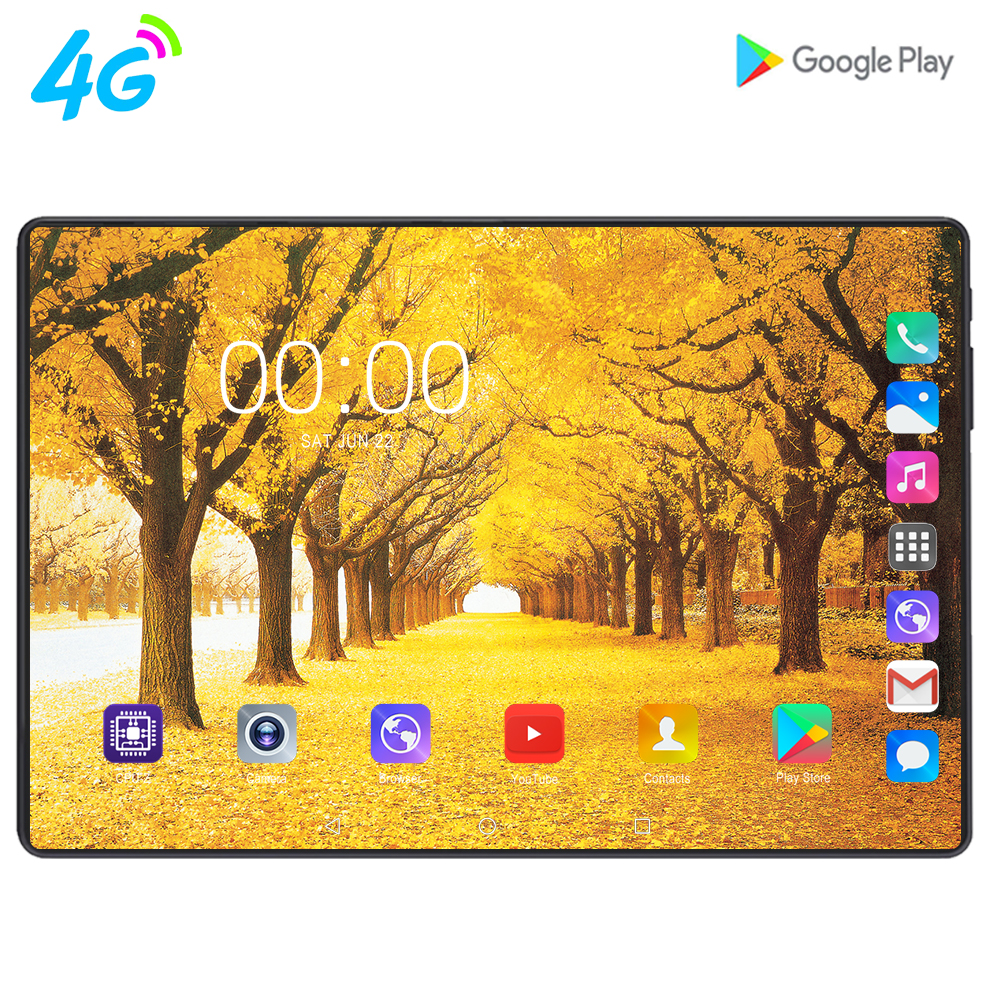 2020 Global New 10.1 Inch Tablet PC Octa Core 8GB RAM 128GB ROM 3G 4G LTE IPS 2.5D Tempered Glass Screen  Android 9.0 Tablets 10