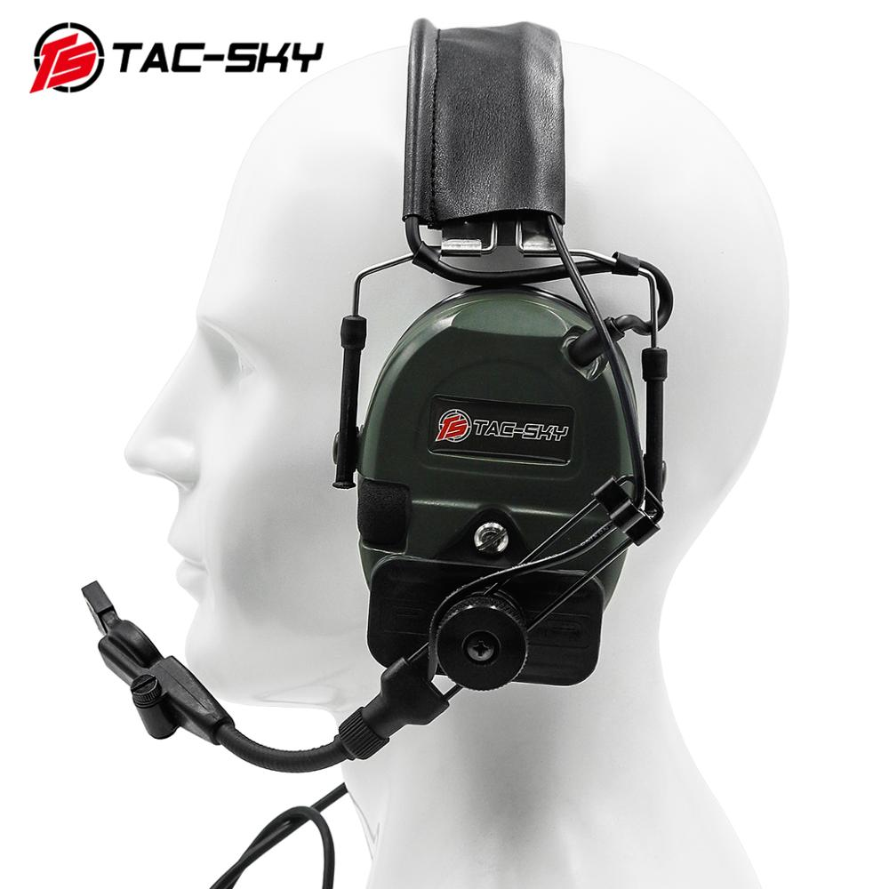 TCI LIBERATOR 1 TAC-SKY Silicone Earmuffs Airsoft Noise Reduction Pickup Tactical Shooting Military Walkie Talkie Headset FG
